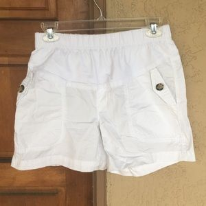 White Stretch Shorts